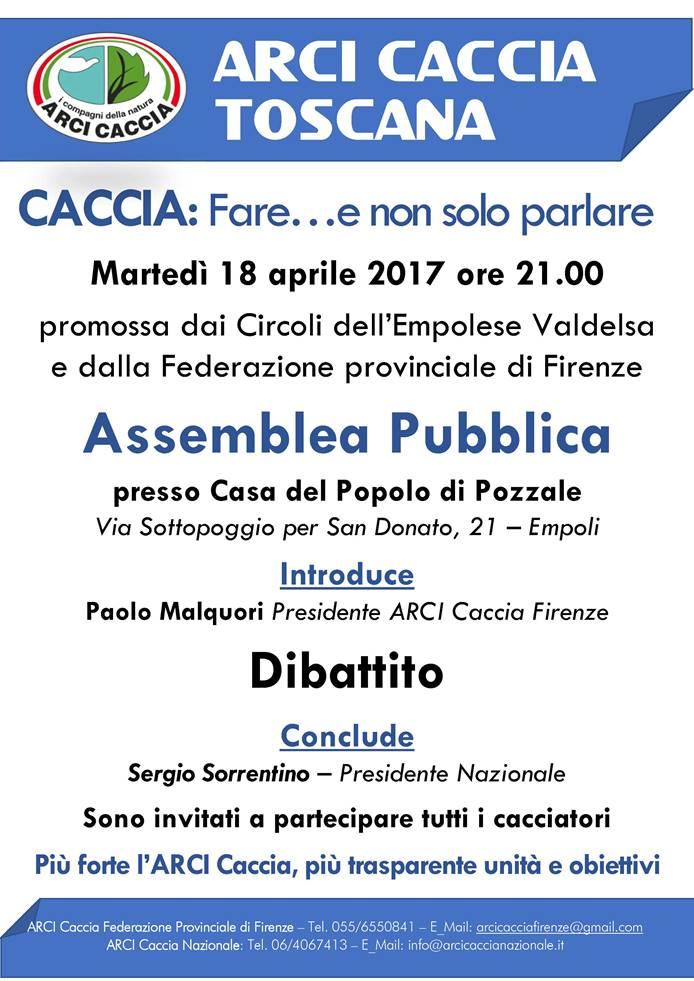 Arci Caccia Toscana: Assemblea Ad Empoli