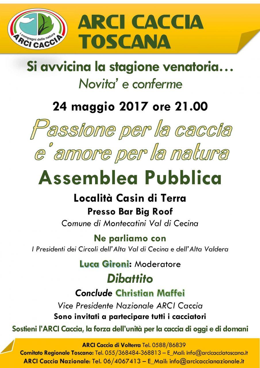 Il 24 Maggio Assemblea Pubblica A Montecatini Val Di Cecina