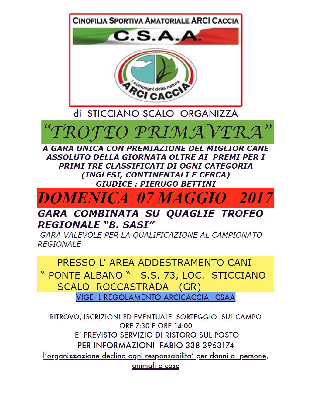 Trofeo Di Primavera A Sticciano