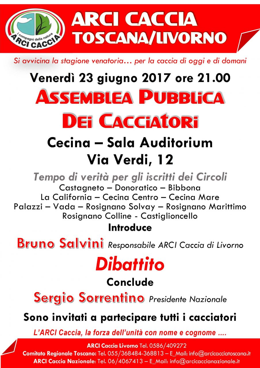 Assemblea Pubblica CECINA 23 6 17