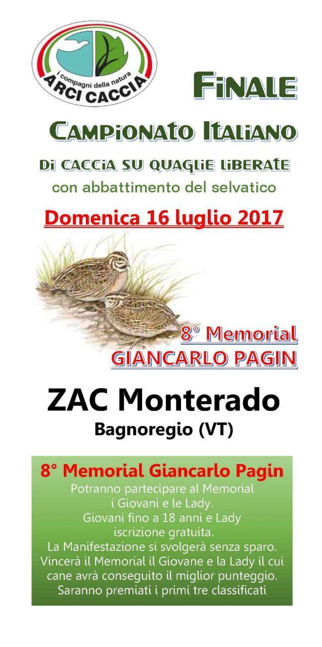 Campionato Italiano Quaglie Liberate Luglio 2017 Pagina 1
