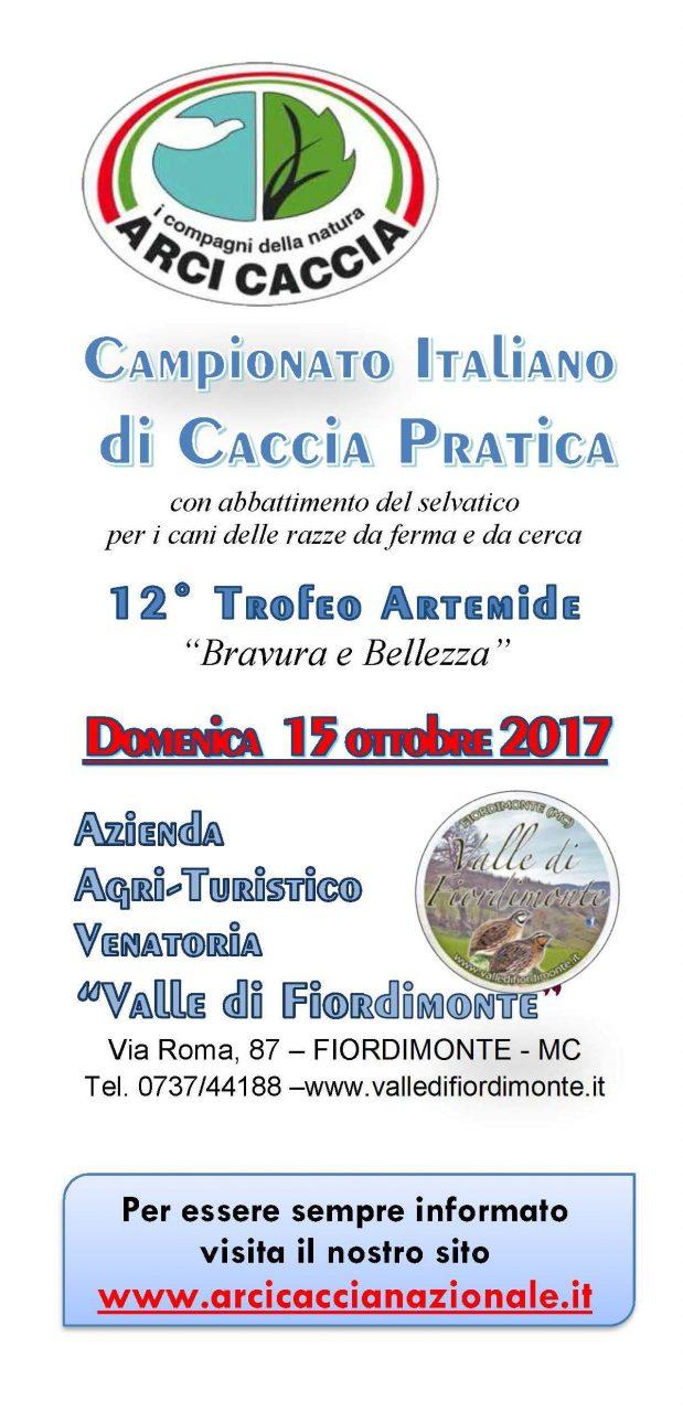 Domenica 15 Ottobre Presso L'ATV Valle Di Fiordimonte, Si Svolgerà Il Campionato Italiano Di Caccia Pratica