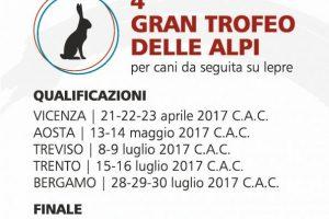 Sabato 12 E Domenica 13 Si Svolgerà La Finale Del IV Trofeo Delle Alpi Per Cani Da Seguita Su Lepre