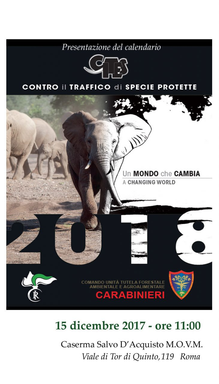 Locandina Calendario Cites 2018 15 Dicembre 2017