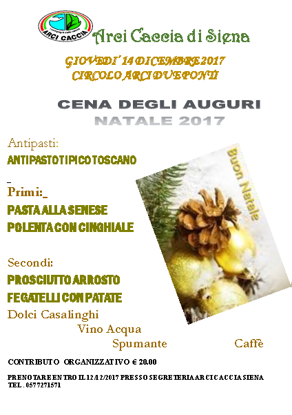Cena Auguri Siena