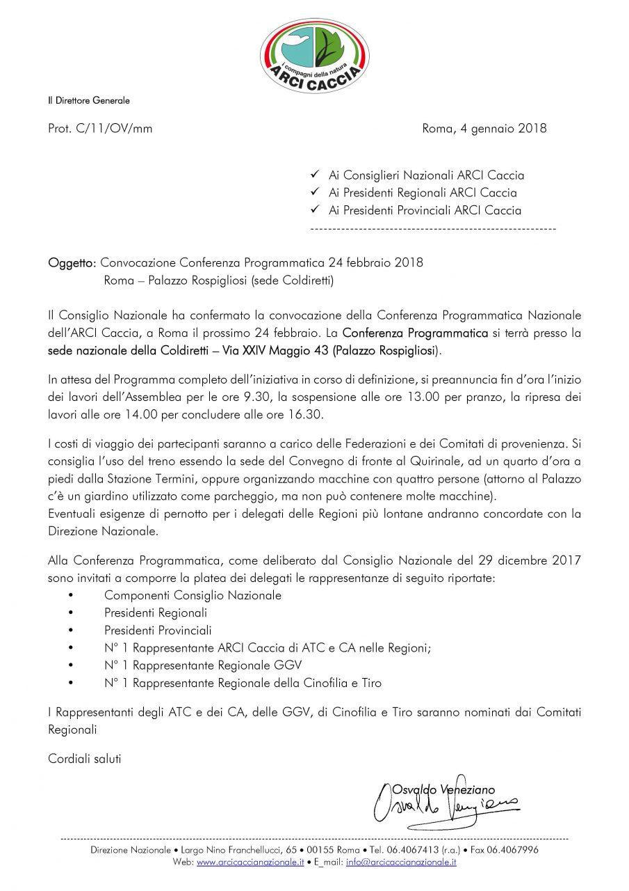 Convocazione Conferenza Programmatica