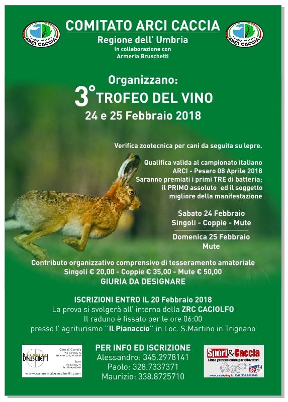 24-25 Febbraio 3° Trofeo Città Del Vino