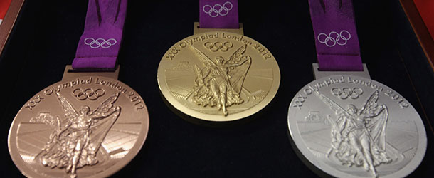 PONTYCLUN, WALES - OCTOBER 27:  Production Begins On The London 2012 Victory Medals At The Royal Mint On October 27, 2011 In Pontyclun, Wales. A Total Of 4700 Medals Will Be Made, Split Between The Olympics And Paralympics. Each Medal, 85mm In Diameter Are The Heaviest Summer Olympic Medals Made And Production Will Be Completed By Spring 2012  (Photo By Michael Steele/Getty Images)