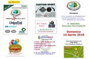 Domenica 15 Aprile A Montespaccato Il 3° Trofeo Pacchiarotti