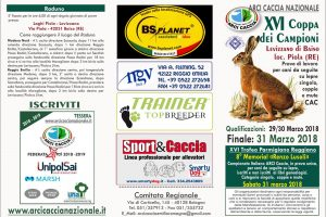 29-30-31 Marzo XVI Coppa Dei Campioni Su Lepre