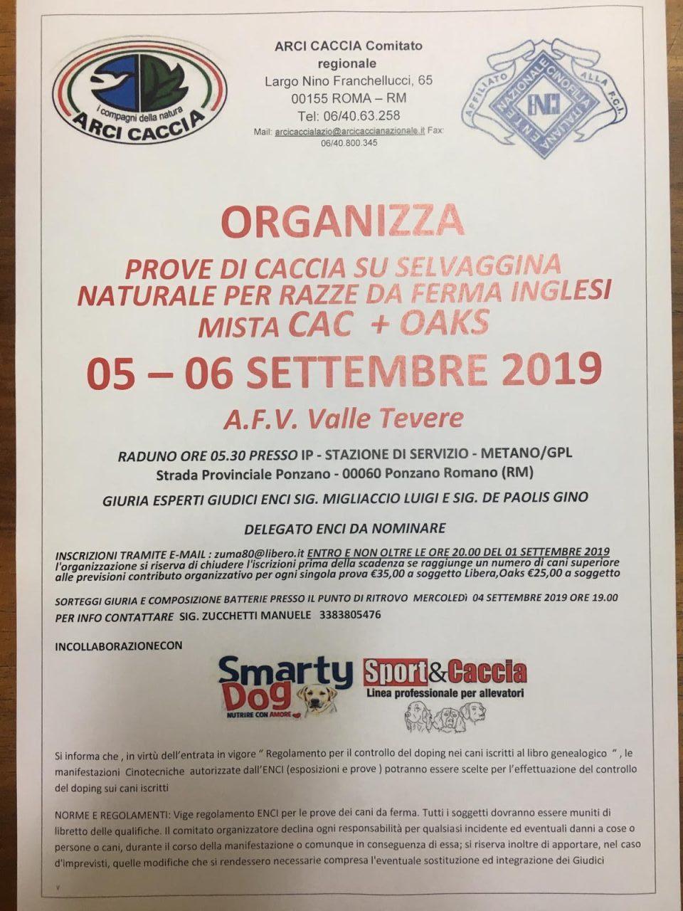 Enci Calendario Prove.Lazio Due Giorni Di Prove Enci A Ponzano Romano Arci