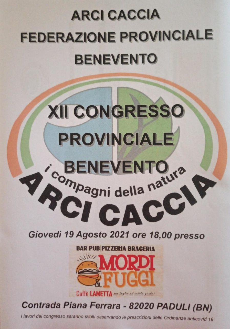 Campania: Domani 19 Agosto Si Svolgerà Il Congresso Provinciale Di Arci Caccia Benevento