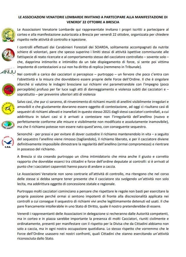 Lombardia: Le Associazioni Ancora In Piazza Domani 22 Ottobre